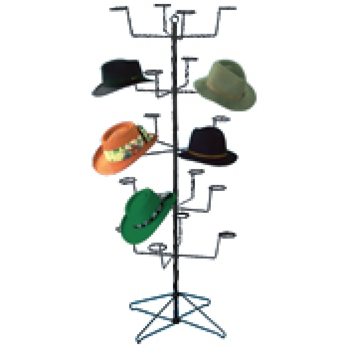 20-Hat Economical Men/Women Floor Display Rack