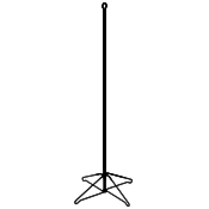 Light-Duty Snap-Out Wire Pyramid Floor Base with Display Tubes (Black)