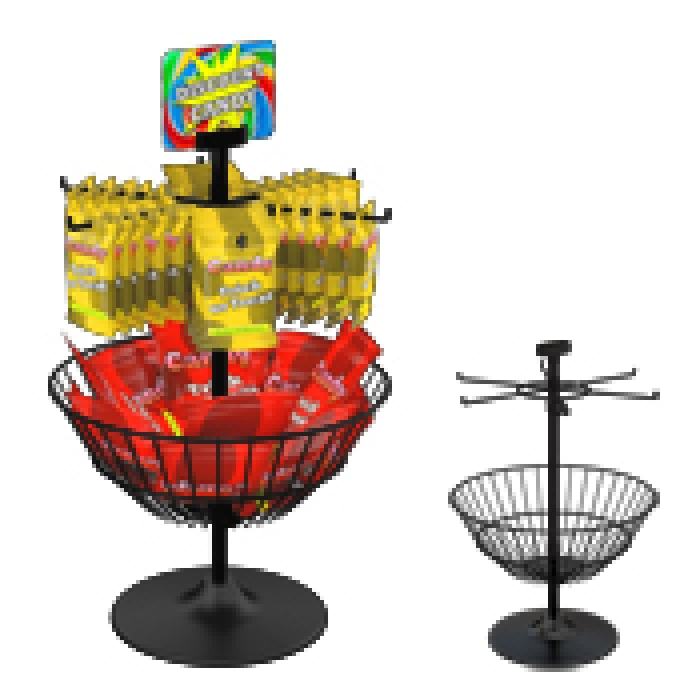 Combination 6-Hook Dump Basket Countertop Display