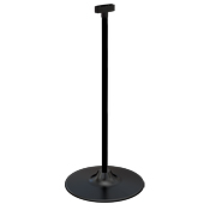 "Light-Duty 12"" Diameter Plastic Countertop Base with Display Tube (Black)"