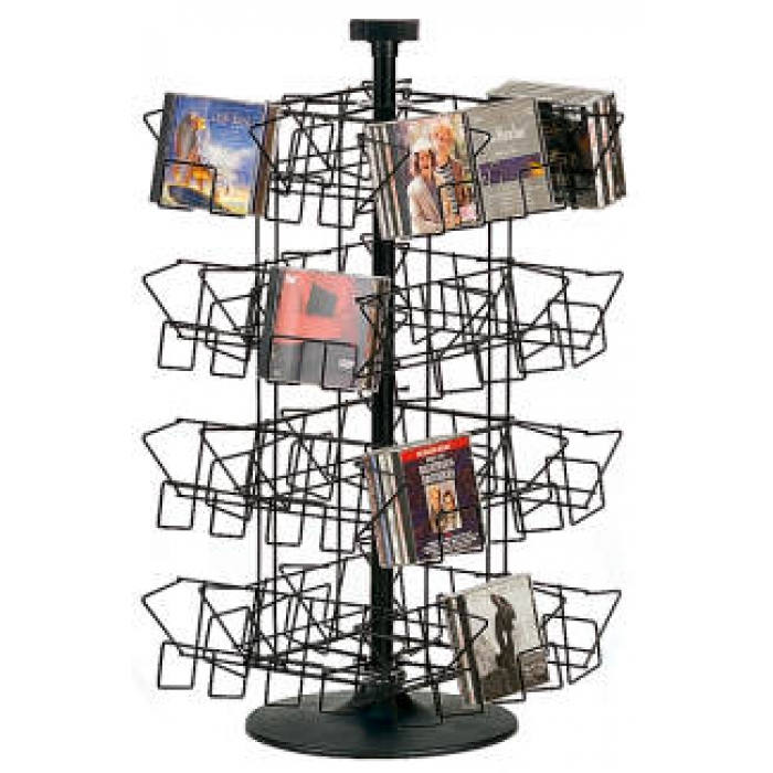 32-Pocket Countertop Spinner Rack for 160 CDs