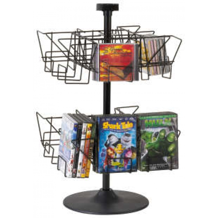 16-Pocket Economical CD/DVD Countertop Display Spinner
