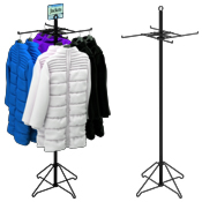 4-Hook T-Shirt Floor Display Rack