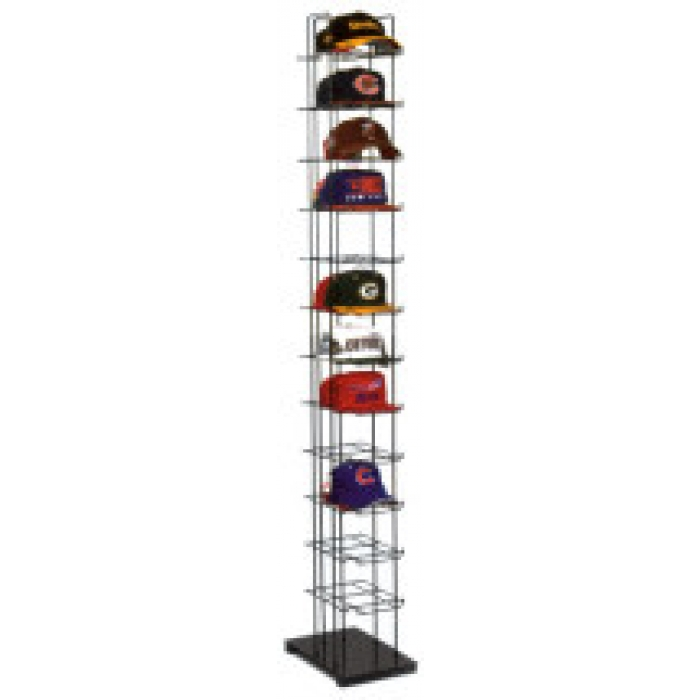 12-Shelf CapTower Floor Display for Baseball Hats