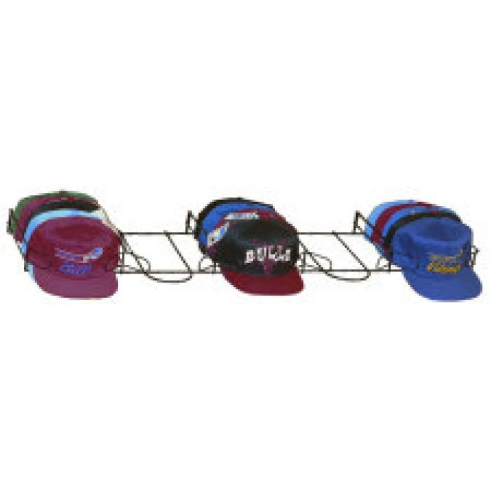 5-Pocket Baseball Hat Display for Pegboard, Slatwall, Gridwall (CASE OF 4)