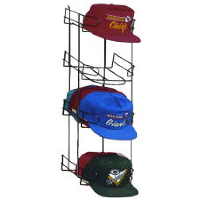 4-Pocket Vertical Baseball Cap Display (for Pegboard, Slatwall, Gridwall)