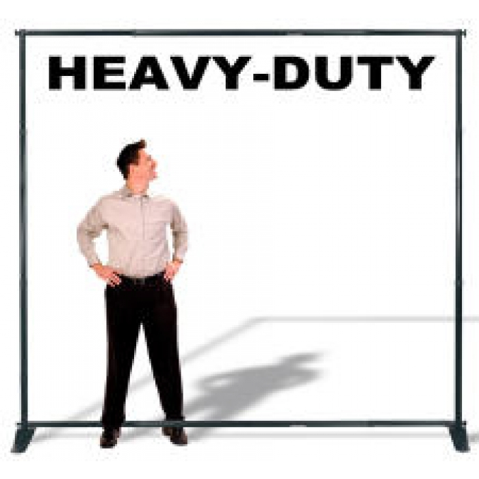 Panoramic Heavy-Duty Adjustable Banner Stand (Black)