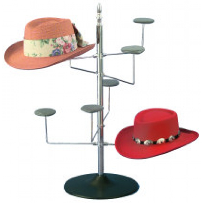 8-Hat Women's Countertop Display Spinner Rack