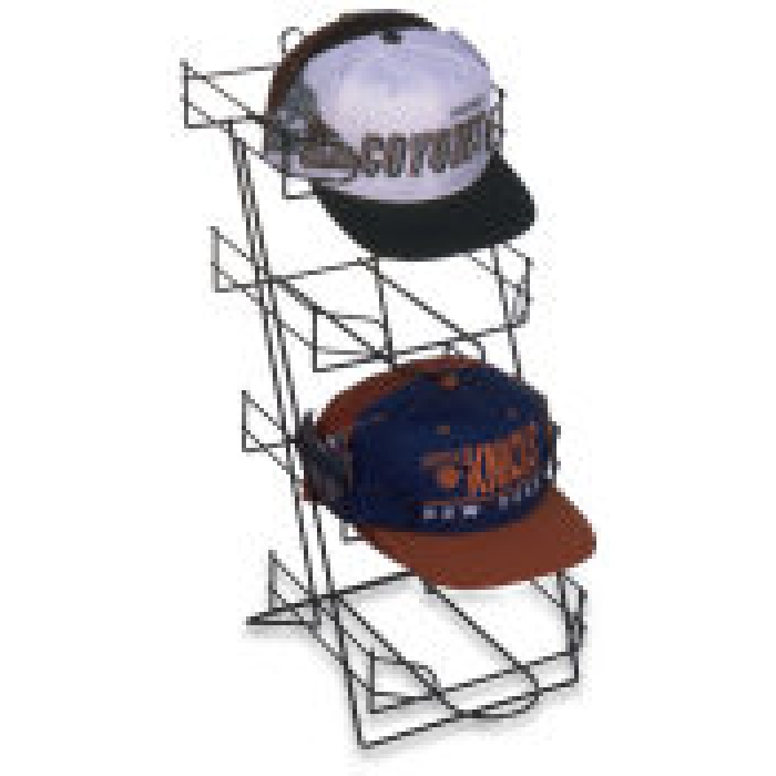 4-Pocket Countertop Display Rack for Baseball Caps