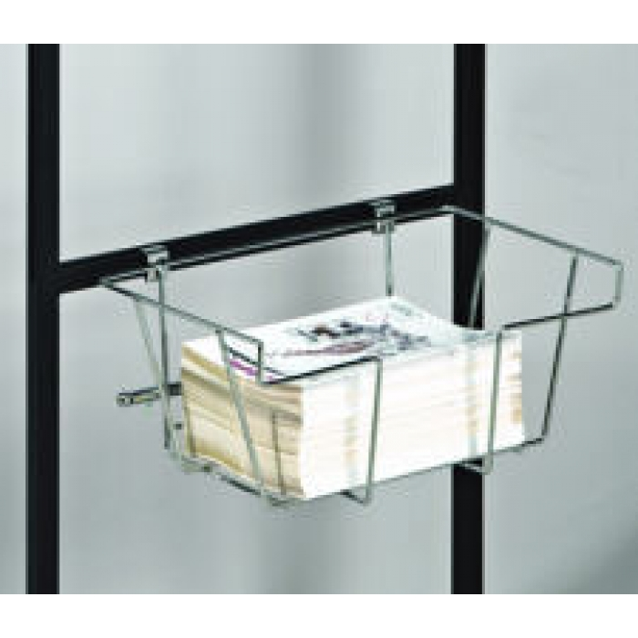 Chrome Literature Basket for Poster Displays