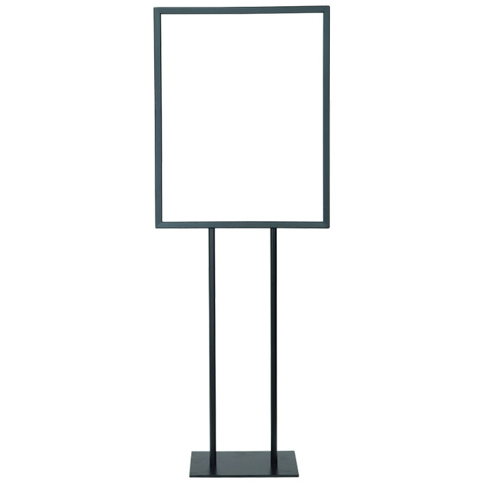 "22"" x 28"" Poster Frame Bulletin Sign Stand (Black)"