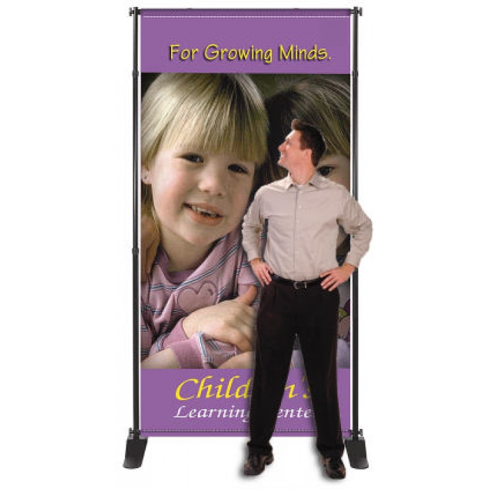 Panoramic Junior-Wide Adjustable Economy Banner Stand (Black)