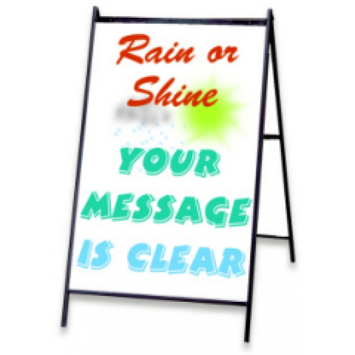 "Eraseable Message Board A-frame with 24"" x 36"" White Sign Panels and Markers"