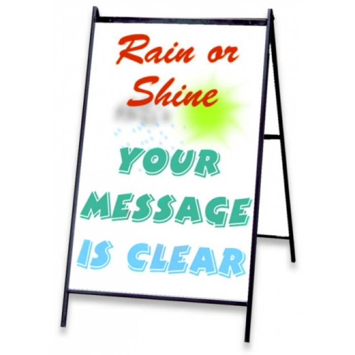 "Eraseable Message Board A-frame with 24"" x 36"" White Sign Panels"