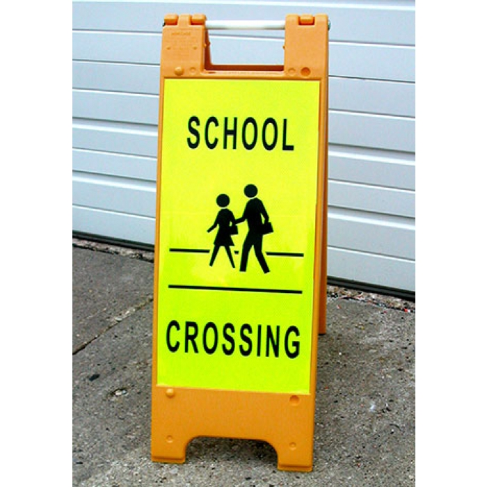 "12"" x 24"" Minicade A-frame Sidewalk Sign (Orange)"