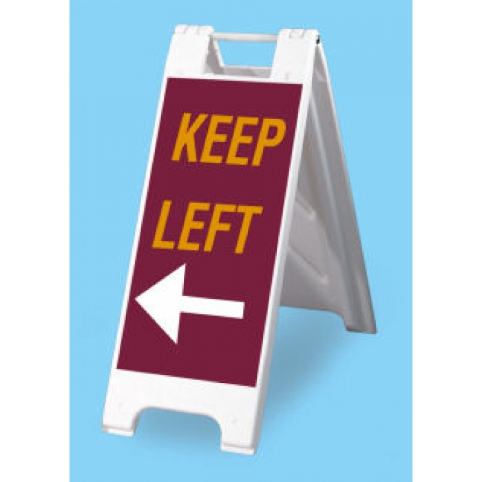 "12"" x 24"" Minicade A-frame Sidewalk Sign (White)"