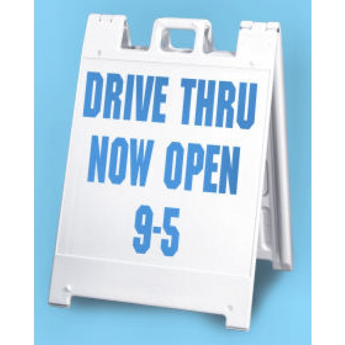 "24"" x 24"" Squarecade Outdoor Sidewalk Sign (White)"