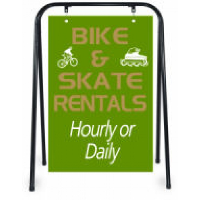 Hang-Frame Sidewalk Sign Holder (Black)