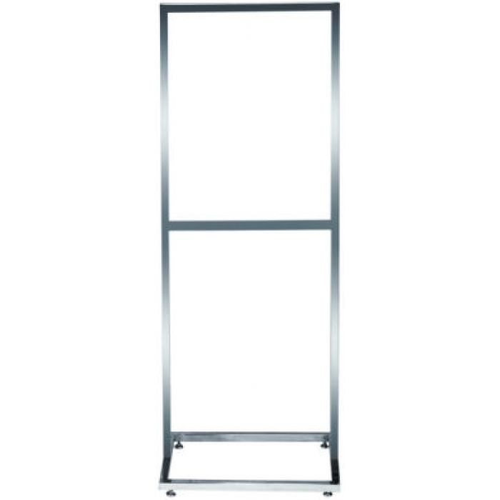 "22"" x 28"" Deluxe Poster Frame Bulletin Sign Stand (Chrome)"