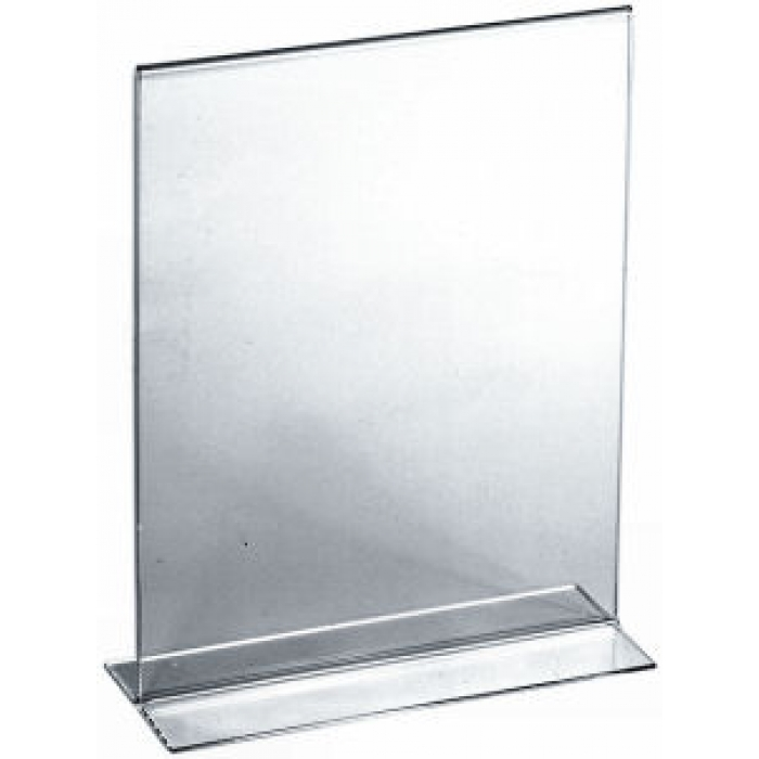 """Acrylic Bottom Load Card Holder for 7""""H x 5.5""""W Table Signs"""