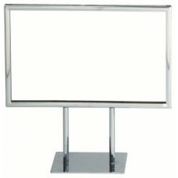 "Chrome Frame Double-Stem for 5.5""H x 7""W Table Signs"
