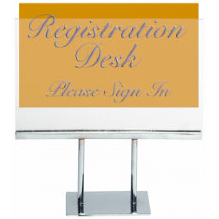 "Acrylic Double-Stem for 5.5""H x 7""W Table Signs (Case of 24)"