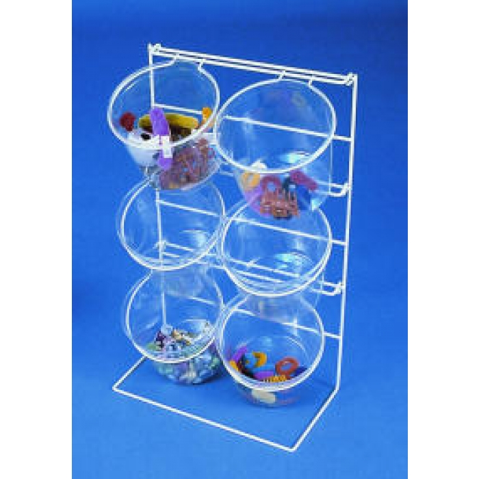6-Jar Countertop Display Rack with Clear Jars (PACK OF 2)