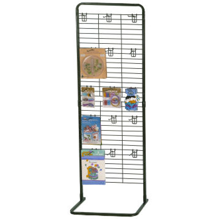 "65""H x 22""W Customizable Wire Grid Panel Floor Display"