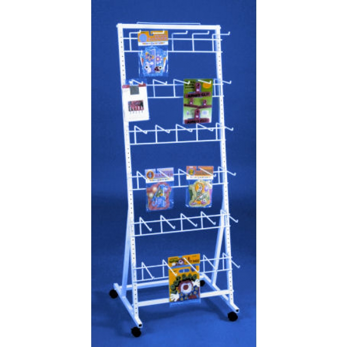 30-Hook Versa-Rack Merchandiser Floor Display with Casters