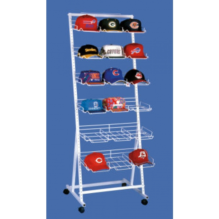 18-Pocket Versa-Rack Floor Display for Baseball Caps