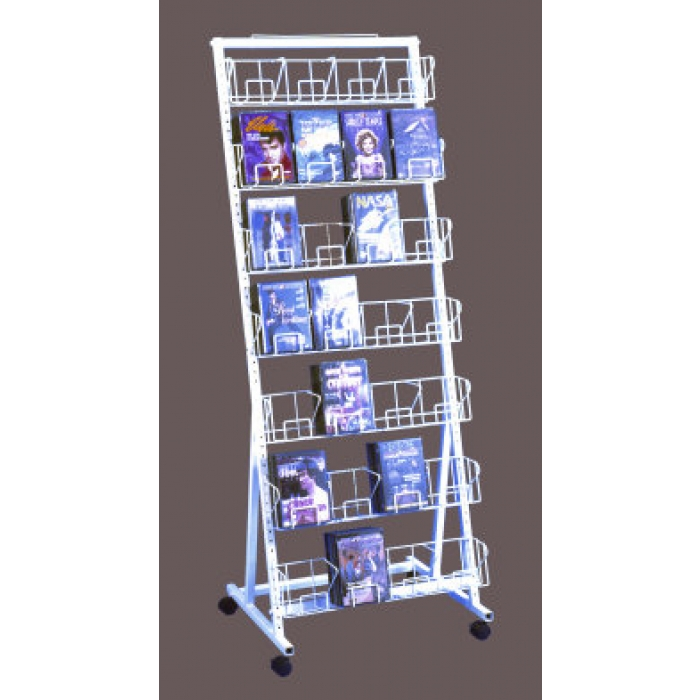 28-Pocket Versa-Rack Floor Display for 168 DVDs