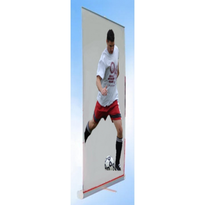"Retractable Rollup Display Stand for 48"" x 77.5"" Banners (Single Banner)"