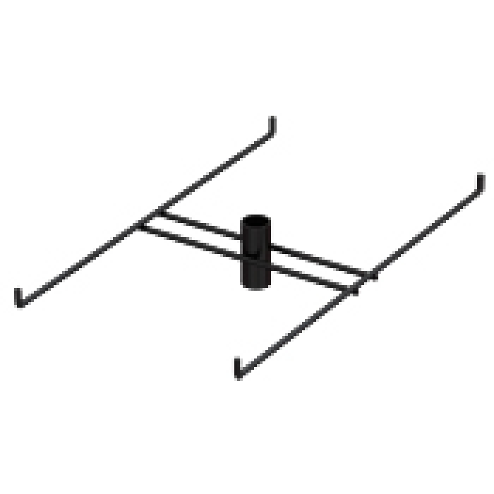 "4-Hook Tier for Packages up to 7.125"" Wide (Black)"