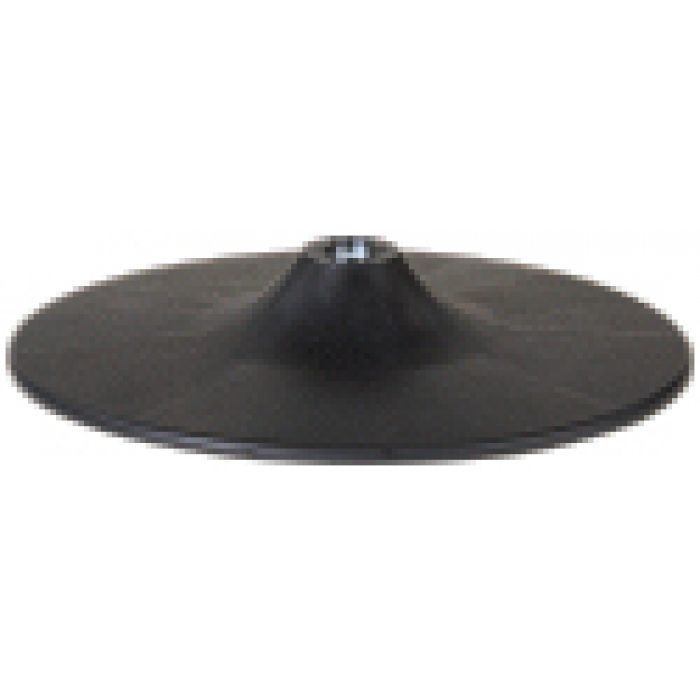 "12"" Diameter Plastic Countertop Display Base for 0.75"" Tubes (Black)"