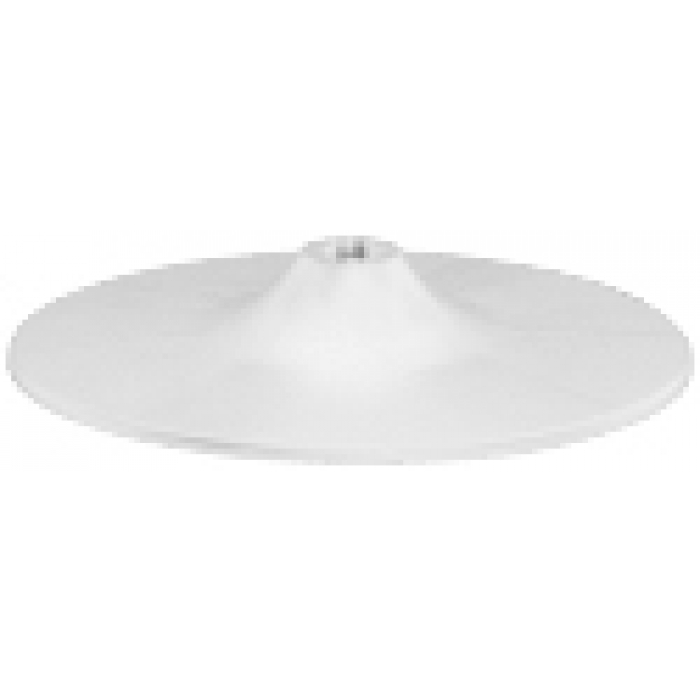 "12"" Diameter Plastic Countertop Display Base for 1"" Tubes (White)"