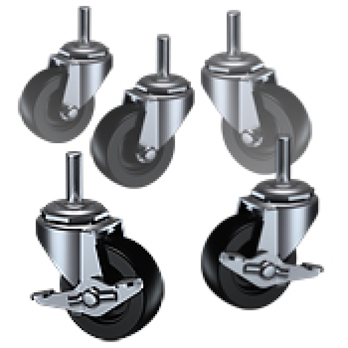 5-Pack Heavy Duty Display Casters