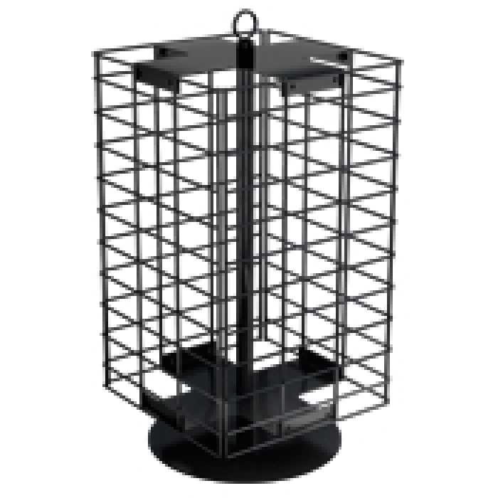 "4-Sided 21"" x 12"" Wire Grid Panel Countertop Spinner Display"