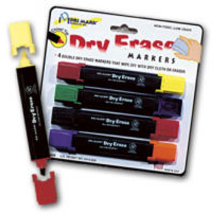 Dry-Erase Markers for WHITE Markerboard Sign Panels (PACK OF 4)