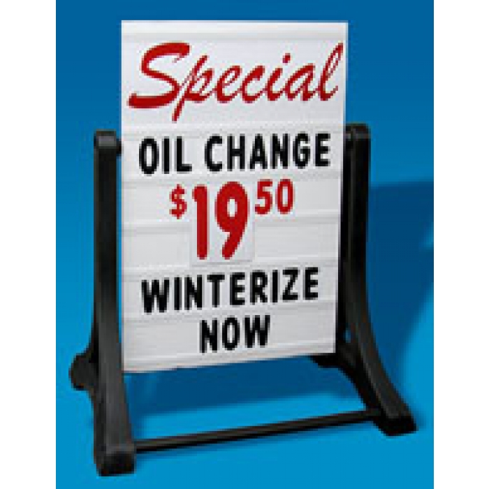 Swinger Deluxe Message Board Sidewalk Sign with Changeable Letters (White)