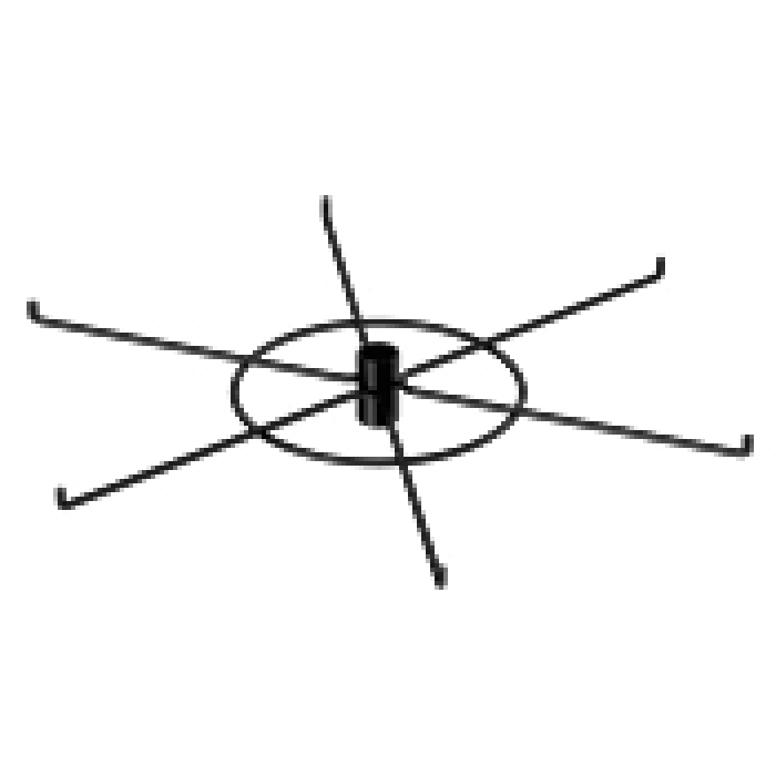 "6-Hook Spoke Tier for Packages up to 5"" Wide (Black)"