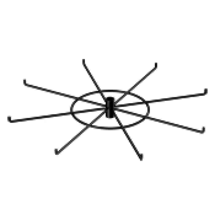 "8-Hook Spoke Tier for Packages up to 3"" Wide (Black)"
