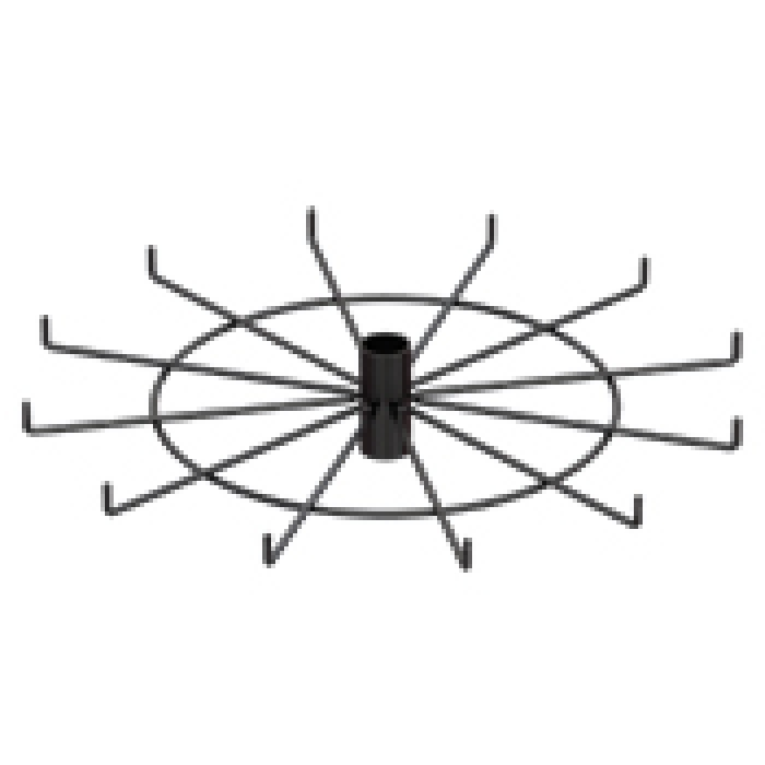 "12-Hook Spoke Tier for Packages up to 2"" Wide (Black)"