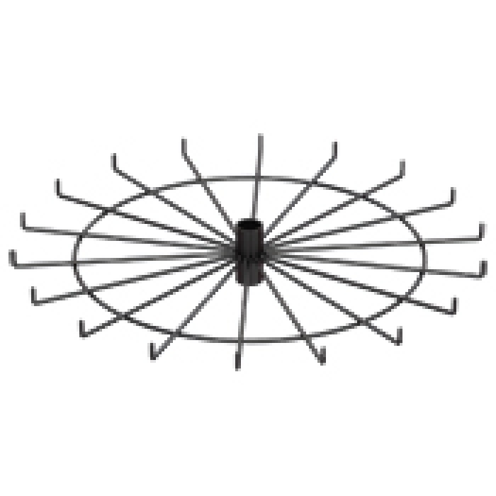 "18-Hook Spoke Tier for Packages up to 1.5"" Wide (Black)"