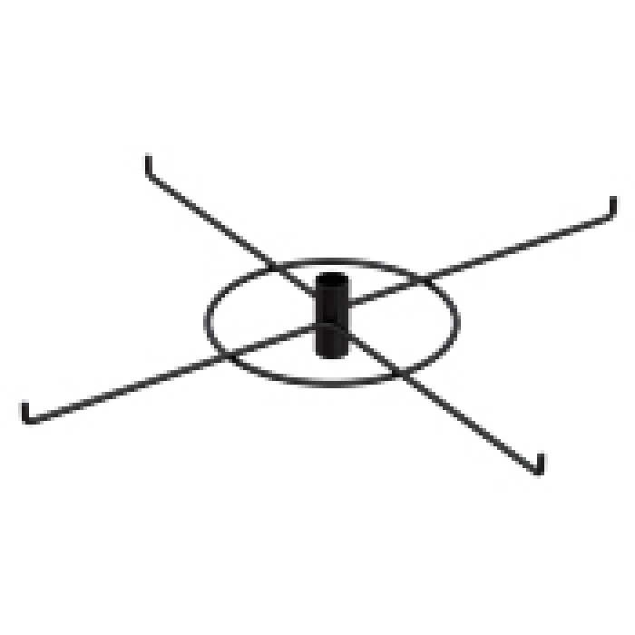 "4-Hook Spoke Tier for Packages up to 6.5"" Wide (Black)"