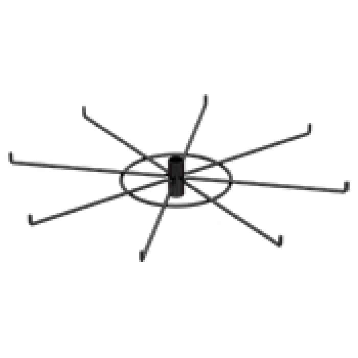 "12-Hook Spoke Tier for Packages up to 4"" Wide (Black)"