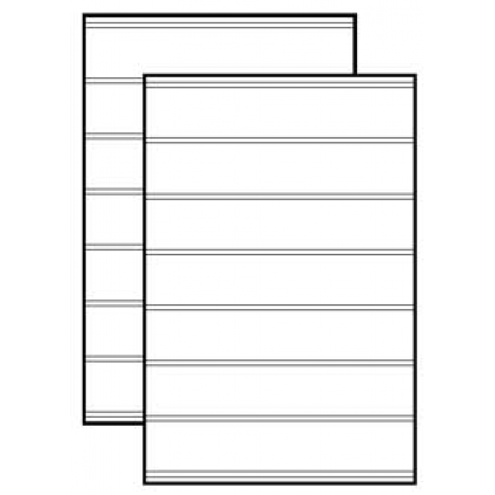 Replacement Message Board Sign Panel with 2 Sides Tracks (White model) for Swinger