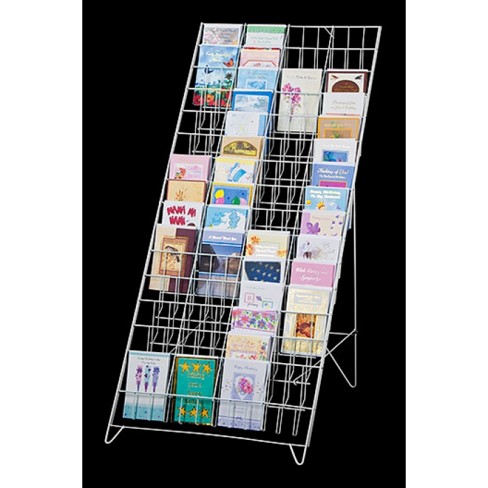Greeting card display racks in multiple sizes marvolus store fixtures fold flat 60 pocket greeting card floor display white m4hsunfo