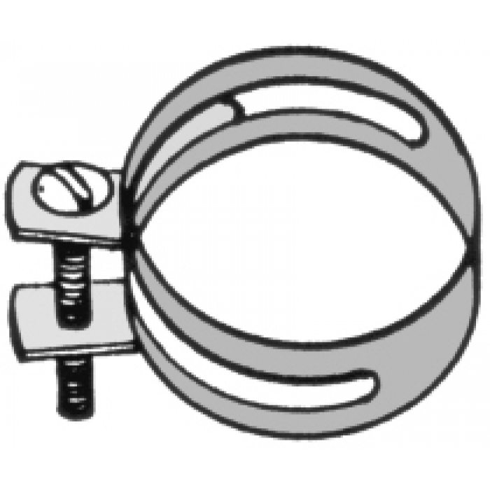 "Metal Clamp (Hose Style) for 1-1/4"" diameter poles"