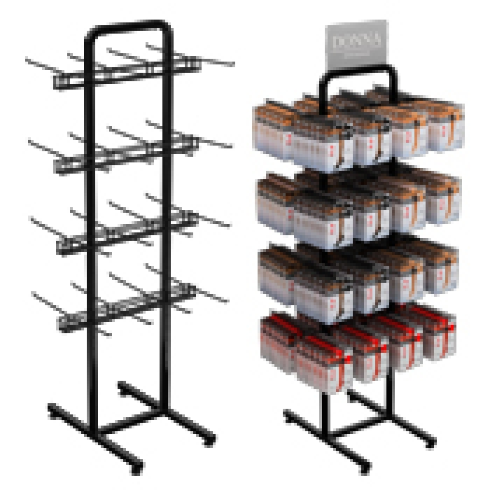32-Hook Double Sided Marvelous Merchandiser Floor Display