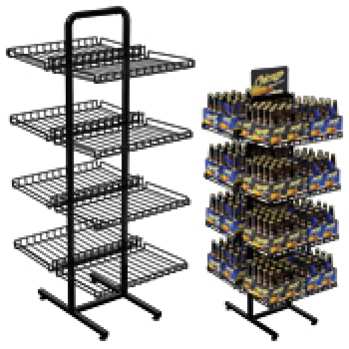 8 Shelf Double Sided Marvelous Merchandiser Floor Display